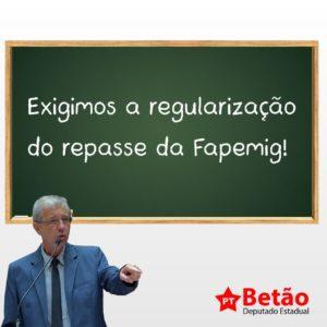 Betão protocola pedido para a regulamentação do repasse de recursos à FAPEMIG