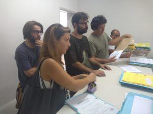 Representantes dos moradores de São José dos Lopes levam denúncia sobre o fechamento da escola rural da comunidade ao Ministério Público