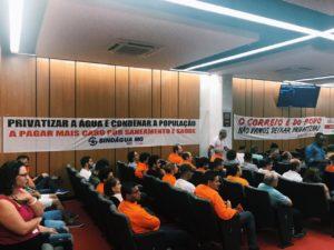 Sindicatos e representantes dos trabalhadores dizem não à política de privatização; Betão destaca a necessidade da reestatização da Vale