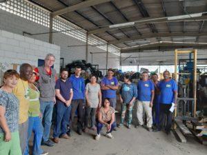 Betão visita assentamento, associação de catadores e discute a construção de um PT mais forte em Uberlândia