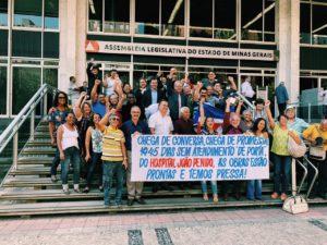 Moradores da Zona da Mata vem à Almg para cobrar a volta do serviço de urgência e emergência do Hospital João Penido