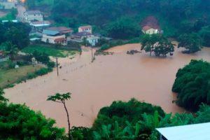 Fortes chuvas voltam a provocar estragos na Zona da Mata