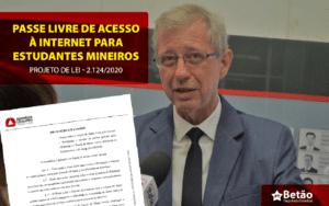 Deputado Betão apresenta projeto de Lei para Passe Livre com acesso e navegação à Internet de forma gratuita para estudantes