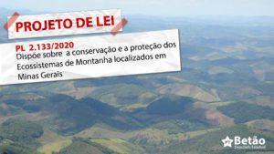 Betão apresenta Projeto de Lei para preservação ambiental e proteção das montanhas em Minas Gerais