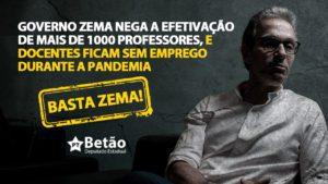 Governo Zema nega a efetivação de mais de 1000 professores, e docentes ficam sem emprego durante a pandemia