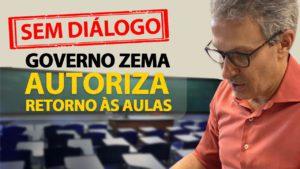 Sem diálogo, Zema anuncia retorno presencial das aulas em outubro para 218 cidades, diz que não será obrigatório e mantém ensino remoto na maioria dos municípios
