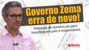 Zema investe em sistema falho de rematrícula e alunos e responsáveis não conseguem concluir processo que termina amanhã