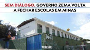 Governo Zema volta a fechar escolas em Minas sem diálogo com a comunidade escolar