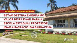 BETÃO DESTINA R$ 25 MIL PARA A EDUCAÇÃO DE EWBANK DA CÂMARA