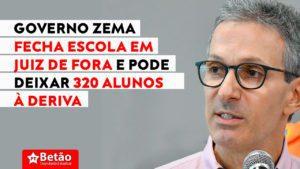 Governo Zema fecha escola em Juiz de Fora e pode deixar 320 alunos à deriva