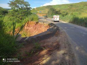 Betão cobra providências urgentes do Governo de Minas sobre estrada em Guiricema em estado precário há mais de um ano