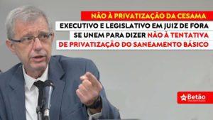 """Deputado Betão se une à bancada do PT em Juiz de Fora para discutir o Marco Regulatório do Saneamento Básico no município; """"nem concessão ou privatização"""""""