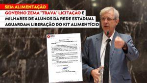 Betão cobra que governo Zema realize a licitação para a concessão dos Kits Alimentícios para a rede estadual