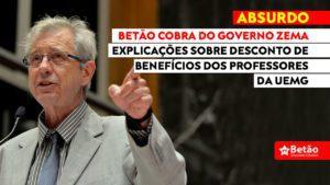 Betão questiona Governo de Minas e a UEMG sobre anúncio de desconto retroativo do vale transporte dos docentes