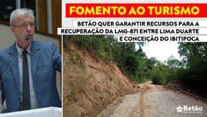 Betão apresenta emendas ao Projeto de compensação do crime da Vale e valor poderá ser usado na recuperação e asfaltamento da LMG-871 entre Lima Duarte e Conceição do Ibitipoca