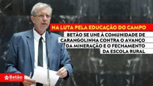 Betão manifesta apoio à comunidade de Carangolinha contra a tentativa de fechamento da escola do campo