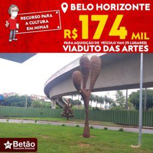 Betão destina recurso para a aquisição de veículo que permitirá jovens frequentarem o Viaduto das Artes, na região do Barreiro em Belo Horizonte